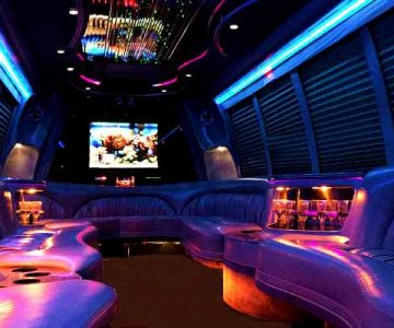 18 passenger party bus rental Greenbrier