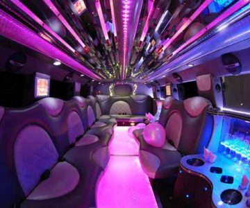 Cadillac Escalade limo interior Fairview