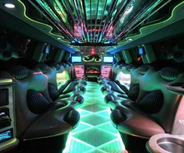Hummer limo interior Mt Juliet